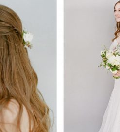 What are the different wedding hairstyle ideas for long hair?