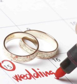 What are the first steps for planning a wedding?